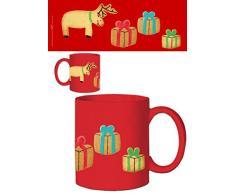 1art1 Natale - Biscotti Renne Pachetti Tazza da caffè Mug (9 x 8cm)