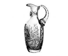 Crystaljulia 3968Â -Â Bicchieri brocca, Cristallo al Piombo, Motivo a Stelle, Levigato a Mano, 1Â l