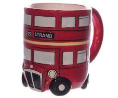PAPILLON Regalo - Tazza 3D a Forma di Autobus londinese Routemaster a 2 Piani - Rosso