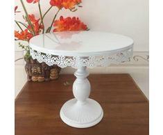 Alzata per torte, Sorliva bianco display Round cupcake Stands alzata per torta con pendente
