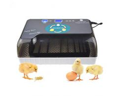 Calayu - Macchina da cuocere professionale con cuociuova digitale completamente automatica, da 9 a 35 polli, con indicatore LED e regolazione della temperatura