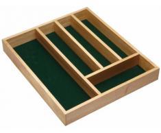 Kitchen Craft, Portaposate in legno, 5 scompartimenti, 36 cm x 31 cm x 5 cm