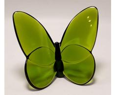 Baccarat Crystal Lucky Butterfly Olive Green 2102547