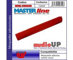Moquette acustica adesiva per rivestimento box colore rosso vivo. Dimensioni cm70x140