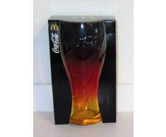 Coca-Cola - Bicchiere da collezione in vetro, edizione limitata, nero/rosso/oro/mc Donalds