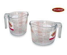 Arcuisine 4937110 Caraffa graduata di vetro, 1 litro