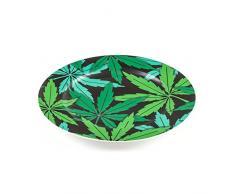 Seletti Blow Weed piatto piano diam.27 cm multicolor