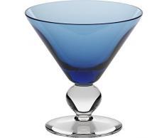 Coppe per gelato, coppe in vetro~COCKTAIL~ Blu, 11 cm, Vetro trasparente(GELATO VERO powered by CRISTALICA)