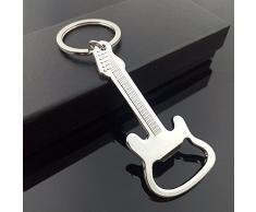Westeng Birra Apribottiglie Portachiavi, chitarra modello Key tag catena argento anello portachiavi pendente
