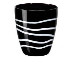 CRISTALICA Bicchiere Succo Acqua Potabile Bianco/Nero 320 ml