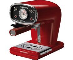 Ariete 1388 Café Retrò - Macchina per caffè espresso in polvere e cialda ESE, 15 bar, 850W, Dispositivo Maxi-Cappuccino, 1L, Rosso
