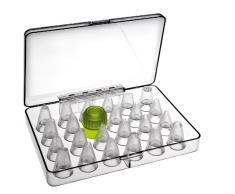 Ibili 783800 - Set di 23 bocchette per tasca da pasticcere, con adattatore