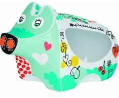 Ritzenhoff Salzschwein, Barattolo Sale a Forma di Maialino, Porcellana, con Cucchiaio in Legno, per 500g, Design 2013, Ingrid Robers, 3050004