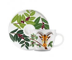 Ritzenhoff, Tazzina da caffè con piattino, Multicolore (Mehrfarbig)