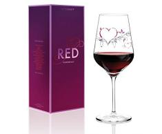 RITZENHOFF 3000008 F14 - Calice per Vino Rosso, di Design, Motivo Cuore