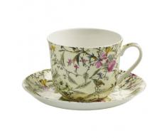 Maxwell & Williams Tazza per la Colazione, con Piattino, Summer Blossom, Porcellana, WK03300