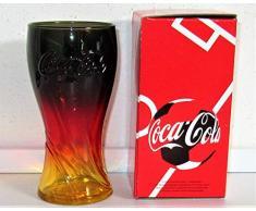 Coca-Cola - Bicchiere da collezione in vetro, edizione limitata, nero/rosso/oro/mc Donald/Russia 2018