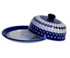 Boleslawiec Pottery - Coperchio formaggiera originale Boleslawiec, con decorazione 166a - GU-888/166a