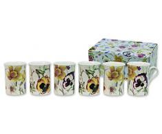 Heath McCabe Trent H/M - Tazze in porcellana della collezione Pansy, 6 pezzi