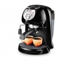 DeLonghi EC 201.CD.B Macchina da Caffè per Espresso e Cappuccino, Caffè in Polvere o in Cialde E.S.E., 1100 W, Nero