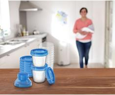 Philips SCF618/10 Avent Riutilizzabile Seno Latte Deposito Bicchieri - Confezione di 10