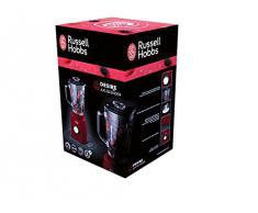 Russell Hobbs Desire 18996-56 Frullatore, Bicchiere Vetro, Lame in Acciaio Inox, 750 Watt, 1.5 Litri, 2 Velocità, Rosso