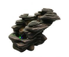 ZenLight SCFR132 - Fontana a torrente, pietra, 38 x 19 x 25 cm, colore: marrone