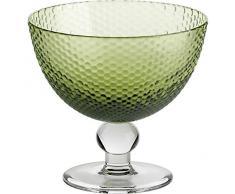Coppe per gelato, coppe in vetro~BUBBLES~ Verde, 11 cm, Vetro trasparente(GELATO VERO powered by CRISTALICA)