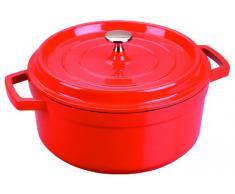 Lacor 25916- Casseruola rossa alluminio pressofuso d.16 cm