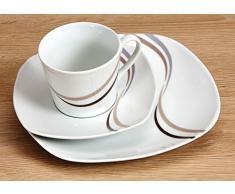 Ritzenhoff & Breker 091878 – Servizio combinato Merida, 30 pezzi Servizio da caffè