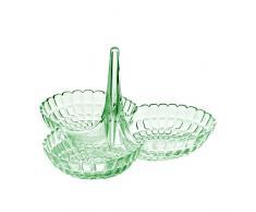 Guzzini Tiffany Antipastiera 25 x 23,5 x H 15,5 cm, Verde