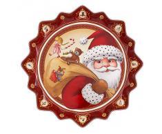 Villeroy & Boch Toy'S Fantasy Piatto Pasticceria Fondo Regalo Natale, Porcellana, Rosso