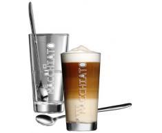 Ritzenhoff & Breker Lena 115512 - Bicchieri da latte macchiato, con cucchiai, 4 pz