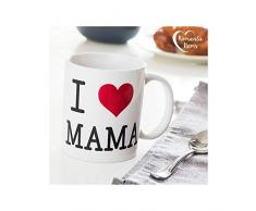 Out of the blue Tazza in gres, Motivo: I Love Mama, ca. 10 x 8 cm
