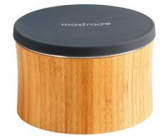 Mastrad F28001 - Mortaio e grattugie in legno e acciaio inox, colore: Nero
