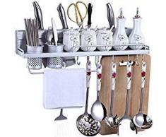 Mensole acciaio per cucina scaffale mensole mdf e acciaio for Mensole alluminio ikea