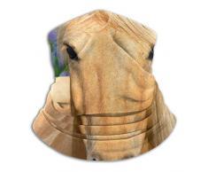 Scaldacollo con collo scaldacollo e scaldacollo in pile di cavallo giallo, fascia per scaldapiatti versatile per uomo e donna