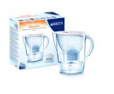 BRITA 100002, Caraffa filtrante Marella, tecnologia di filtrazione MAXTRA, 1.4 litri di acqua filtrata