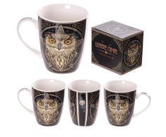 Tazza Mug Colazione in Ceramica Gufo Saggio by Lisa Parker