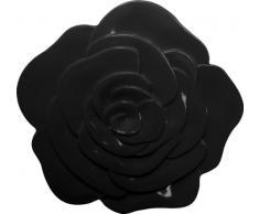 ZAK Designs 0015-0901 - Sottopiatto a Forma di Rosa, Colore: Nero