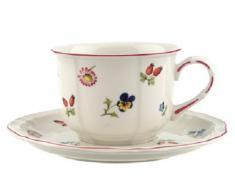 Villeroy & Boch Petite Fleur Piattino Tazza, Porcellana, Multicolore, 17 cm