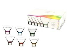 Viscio Trading Petra Coppe Gelato, Trasparente/Multicolore, 6 unità