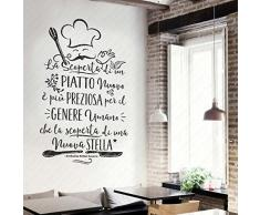 Wall sticker con frasi acquista wall stickers con frasi for Adesivi x cucina
