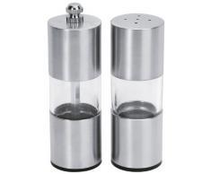 Equinox 503104 - Saliera e pepiera in acciaio inox e materiale acrilico