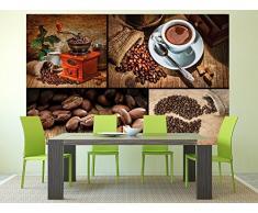 Caffè FOTOMURALE collage caffè - motivo murale caffè tappezzeria da parete - XXL quadro decorazione da parete per cucina - Great Art