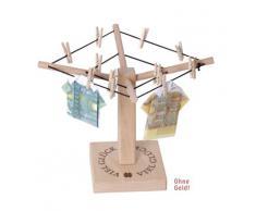 Weiss B8384 - Mini stendino per banconote con scritta Viel Glück (Buona fortuna)