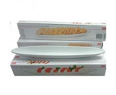Servire la ciotola 42 cm in porcellana bianco per Antipasti e antipasti Formaggio Pomodori