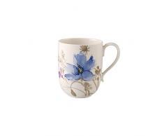Villeroy & Boch Mariefleur Bicchiere da Latte Macchiato, 480 ml, Altezza 11 cm, Porcellana Premium, Gris