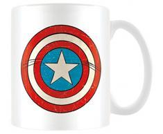 Marvel Pyramid International Retro Tazza Mug Captain America, Ceramica, Multicolore