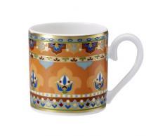 Villeroy & Boch Samarkand Mandarin Tazza Espresso senza Piatto, 0.10 L, Porcellana Bone China, Mandarin, 29.3x16.5x8.1 cm